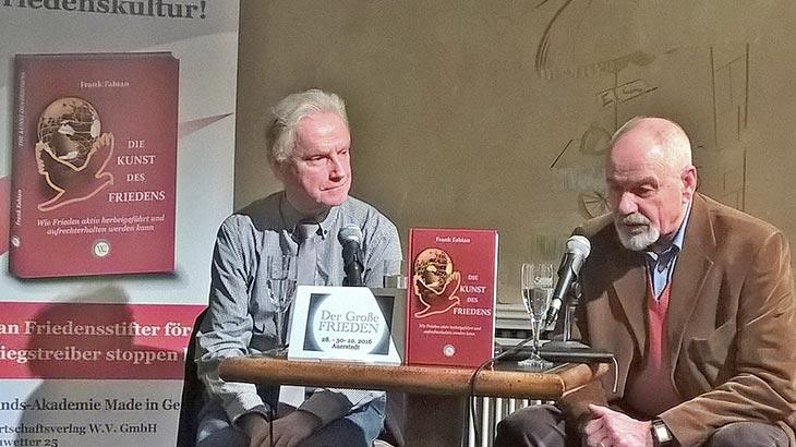 Ernst Haberland bei der Friedensglockengesellschaft in Berlin